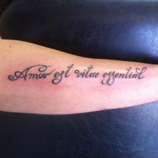 Татуировка - латиница на руке