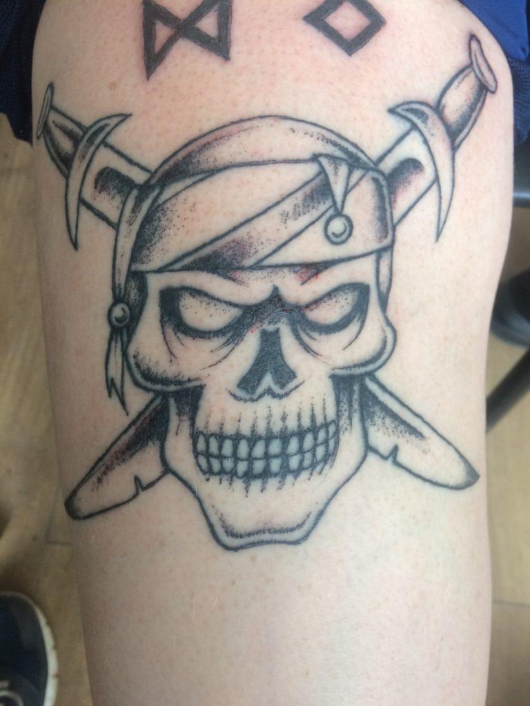 Брутальная мужская татуировка