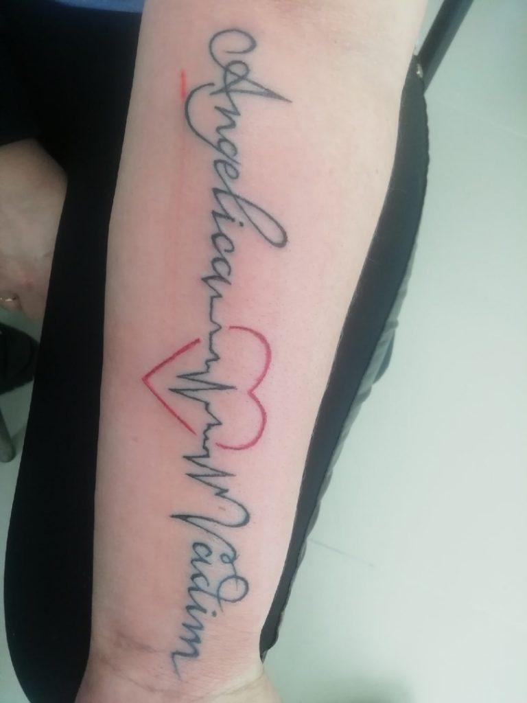Татуировка на руке.